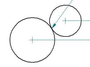 Tangent Radii intersection point