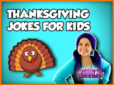 Thanksgiving Jokes for Kids | Thanksgiving for Kids | Tea Time with Tayla