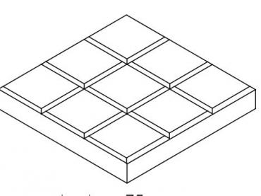 Blueprint for a Tic Tac Toe board simple project
