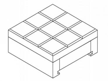 Tic Tac Toe Board container for pieces