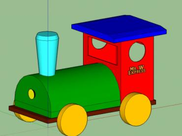 SketchUp - Building A Toy Locomotive