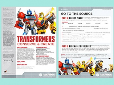 Conserve and Create: Teach Important STEAM and SEL Skills with TRANSFORMERS!