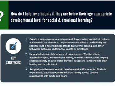 How to help students  below their age appropriate developmental level for social emotional learning