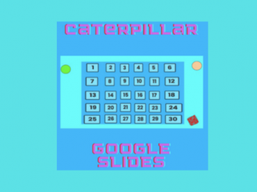 GOOGLE SLIDES MATH GAMES || CATERPILLAR || Subtraction and Addition