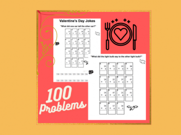FREE Math Jokes || 100 Multiplication Problems || MATH WORKSHEET