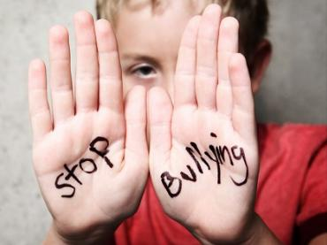 Kid with stop bullying
