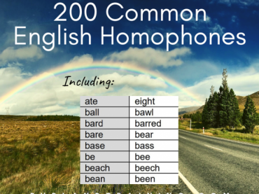 200 Common English Homophones - Reference