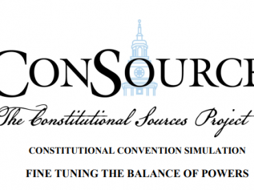 The Constitutional Convention: Balance of Powers