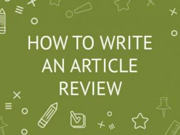 Guidelines for Article Reviewing