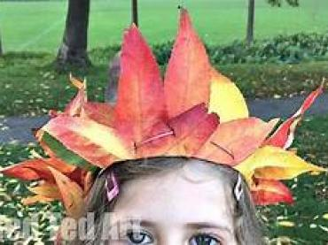 Make a leaf crown