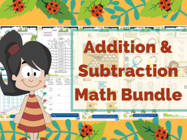 FREE Colorful Printable Addition and Subtraction worksheets
