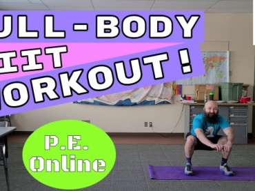 Full-Body HIIT Workout // Online Physical Education Workout and Mental Health // (Online Learning)