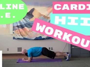 PE With Mister P! Cardio HIIT Workout // Online Physical Education Workout and Mental Health // (Online Learning)