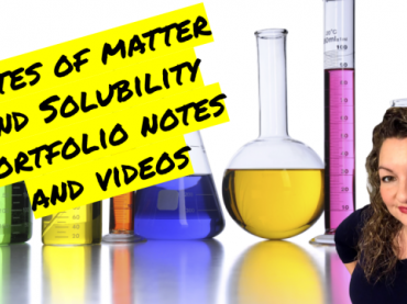 States of Matter and Solubility Unit Portfolio Guided Notes and Videos