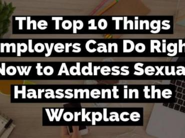 """Top 10 Things You Can Do to Address Sexual Harassment"" Lists"