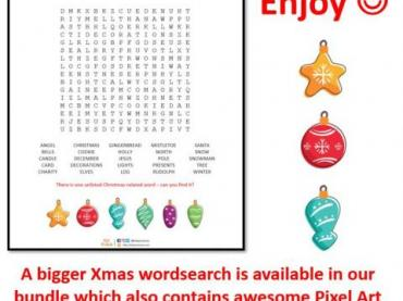Christmas wordsearch - 25 terms to find