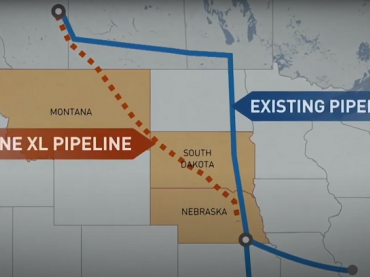 keystone xl pipeline map