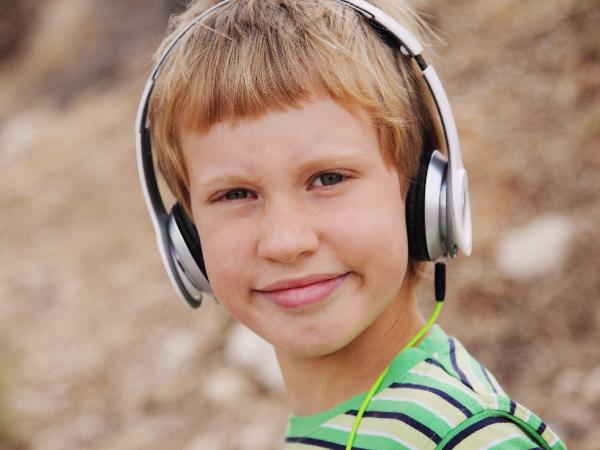 autistic boy with headphones
