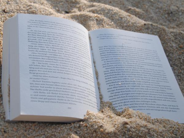 pixabay book on beach