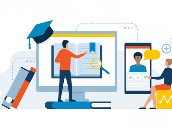 online students learning remotely