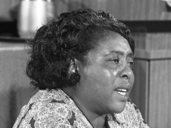 Fannie Lou Hamer, American civil rights leader, at the Democratic National Convention, Atlantic City, New Jersey, August 1964 | Library of Congress