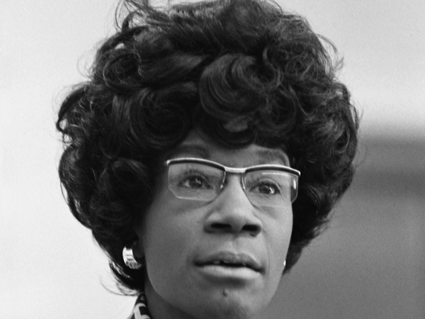 Shirley Chisholm, future member of the U.S. House of Representatives (D-NY), announcing her candidacy.