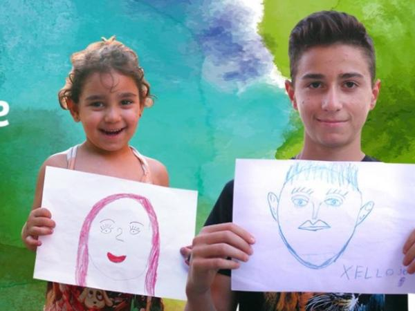 children with drawings