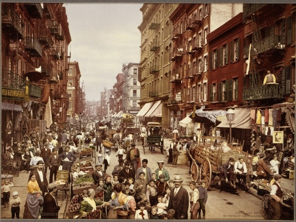 Xenophobia in America: Xenophobia and distrust of immigrants was rife in turn of the century New York City, pictured here in 1890