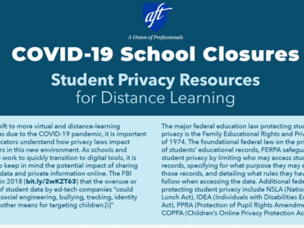Student Privacy Resources for Distance Learning: COVID-19 School Closures