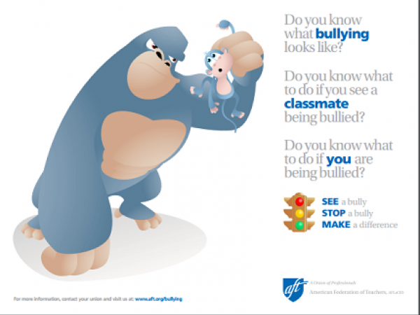Bullying Poster for Elementary Students