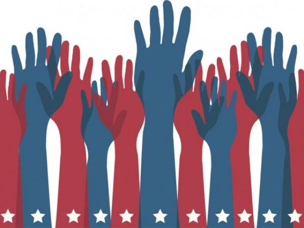 Elect Hands Raised