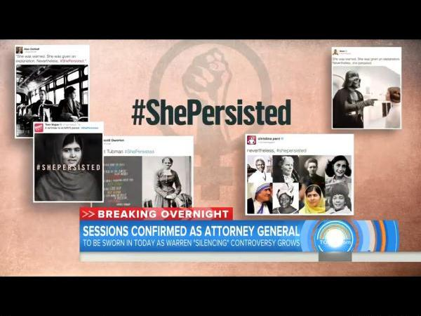"""She Persisted"" Becomes Rallying Cry After Senate Silences Elizabeth Warren"