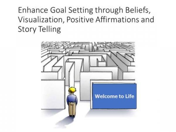 Enhance Goal Setting through Beliefs, Visualization, Positive Affirmations and Story Telling