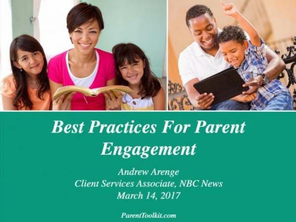 Best Practices for Parent Engagement