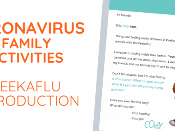 Coronavirus Lesson Plans – Introduction to Peekaville's 'Peekaflu' + Espanol