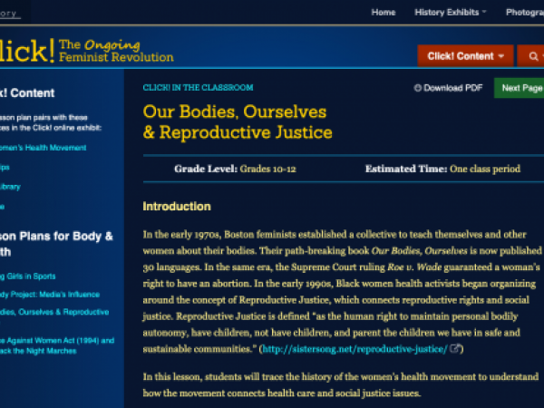 Our Bodies, Ourselves & Reproductive Justice