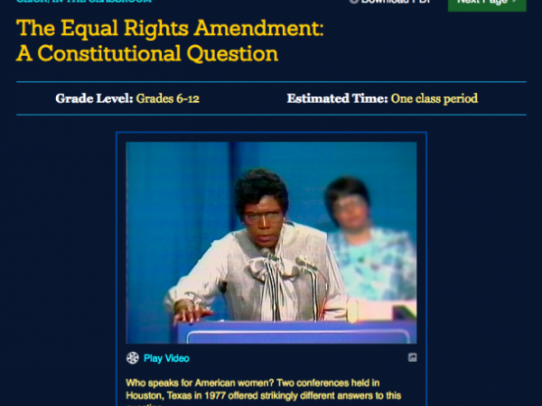Lesson Plan Equal Rights Amendment