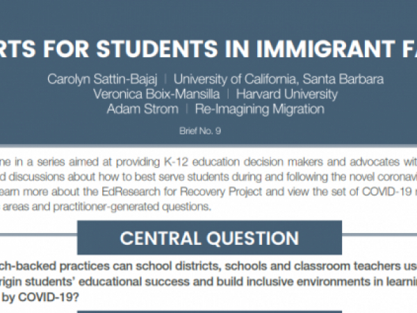 Supports for Immigrant Students and Families
