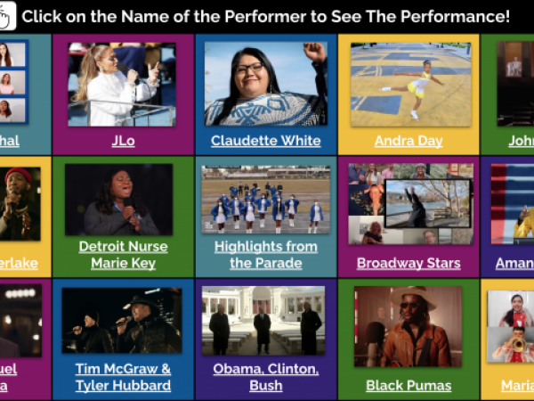 Inauguration Performances & Author's Message ***LESSON & STUDENT MATERIALS***