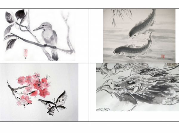 Chinese New Year Sumi Painting