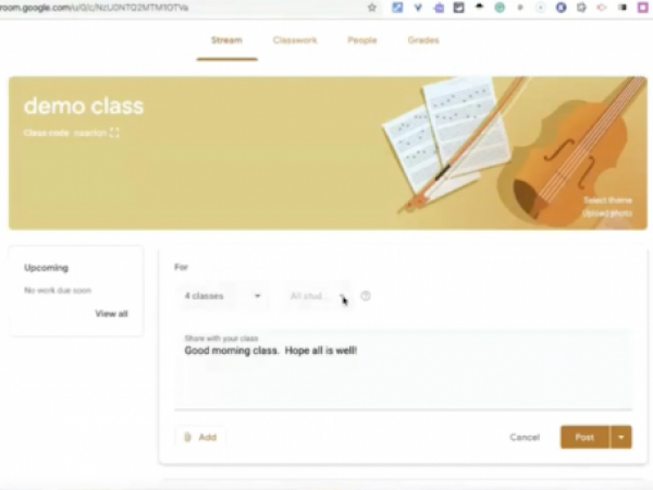 Posting Announcements on Google Classroom Tutorial