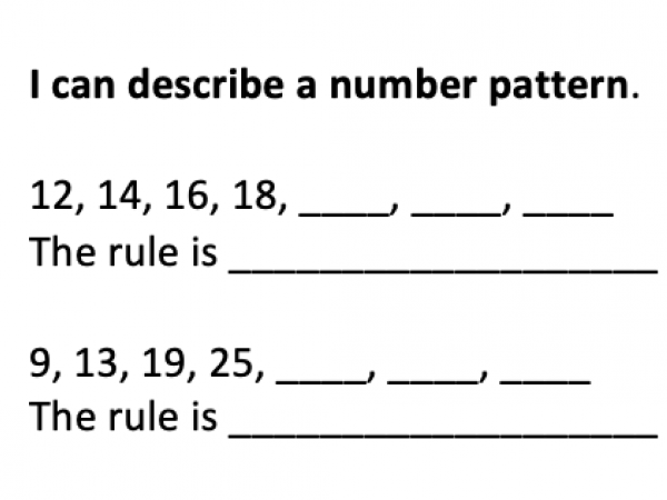 Number Sequences and Patterns