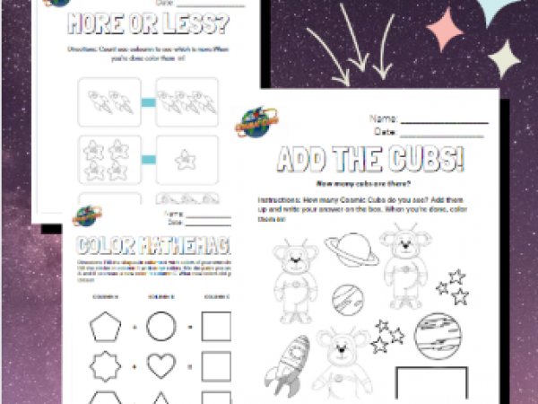 Space Theme Math Worksheets