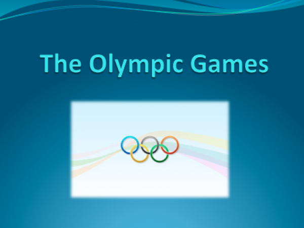 Olympic Games Ppt and handout