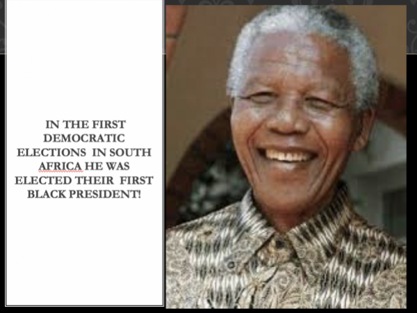 Nelson Mandela Biography Powerpoint