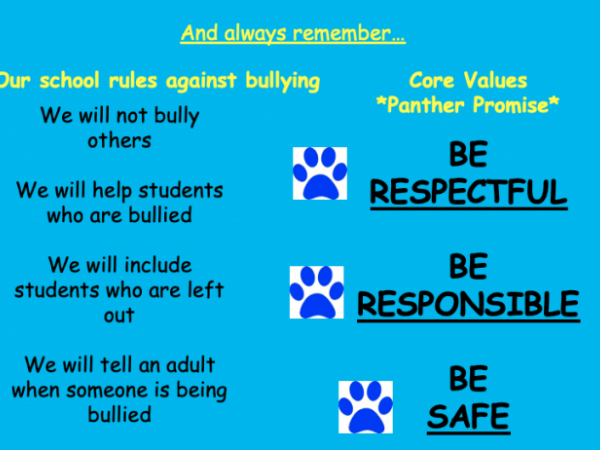 no bullying reminder