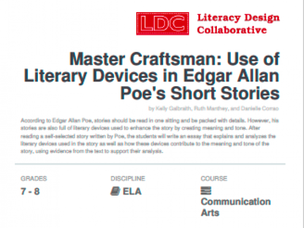 Master Craftsman: Use of Literary Devices in Poe