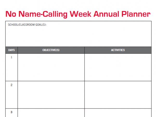 NNCW Planning and Bullying Resources