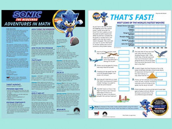 Sonic The Hedgehog Adventures In Math Share My Lesson