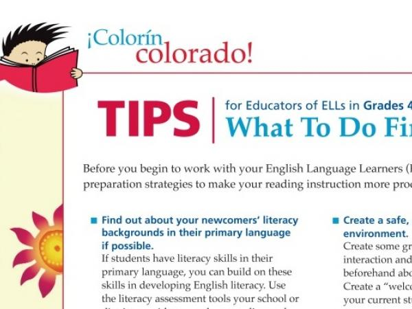 ELL Reading Strategies: What To Do First
